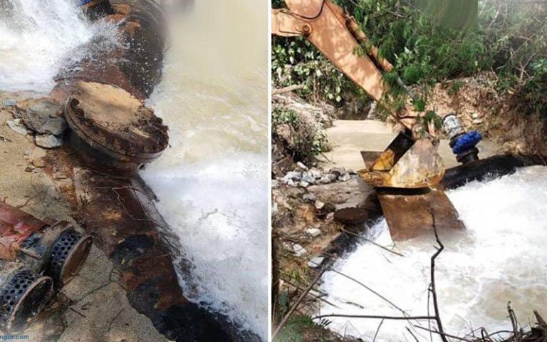 Lagi gangguan air di Lembah Klang, 2 kes paip pecah dalam sehari